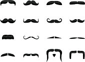 Textured mustache icons