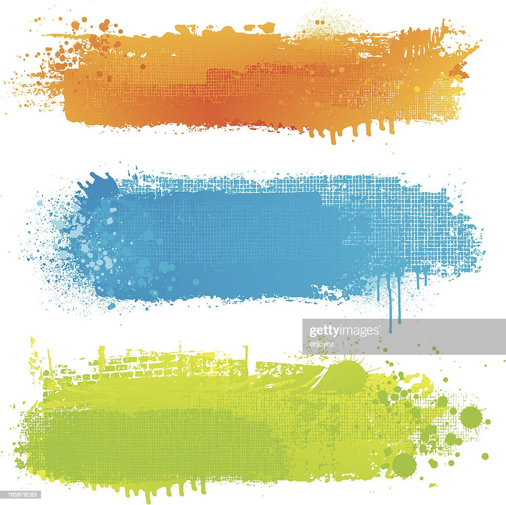 Textured paint strip backgrounds