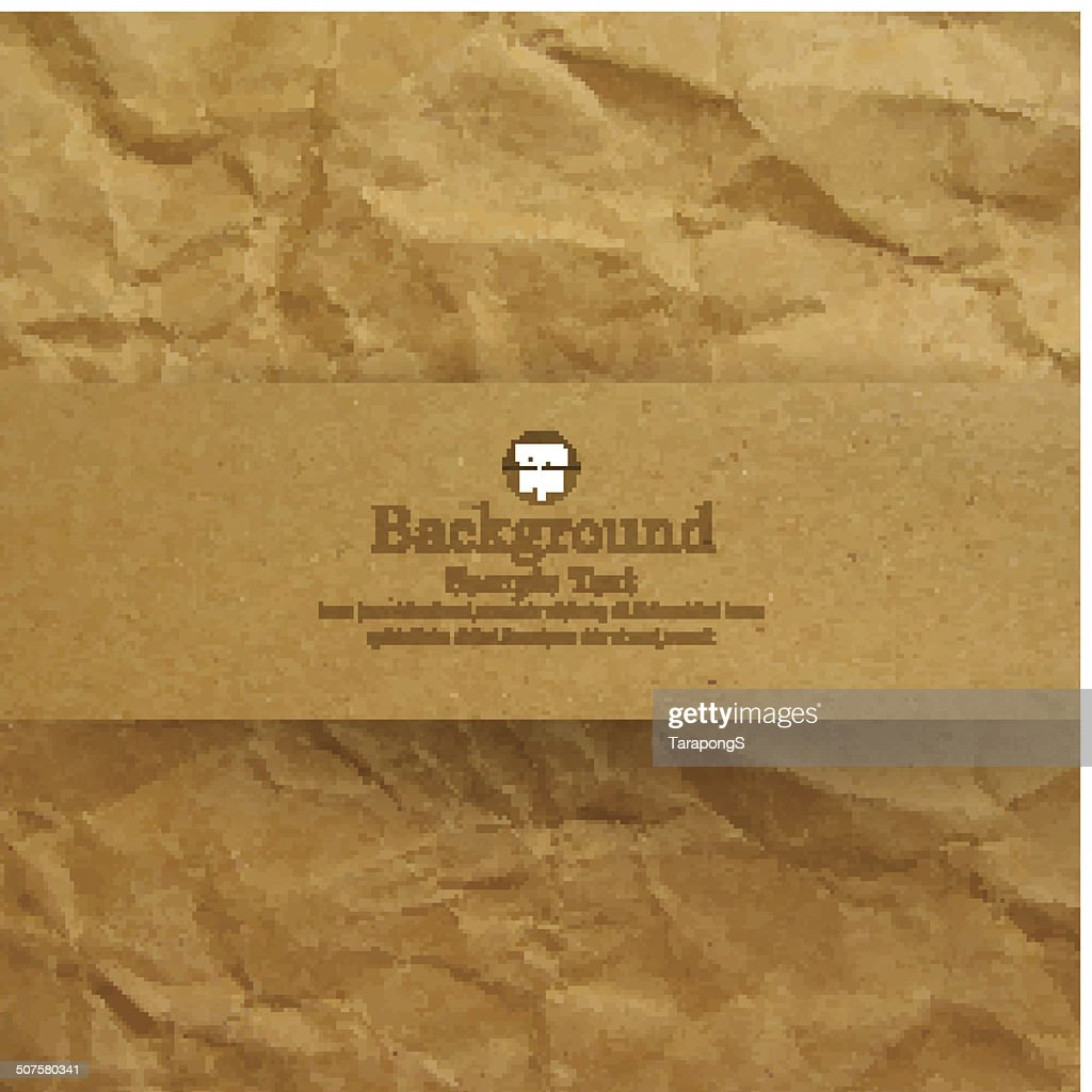 Textured recycled brown paper background.