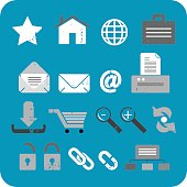 Textured Web Icon Set