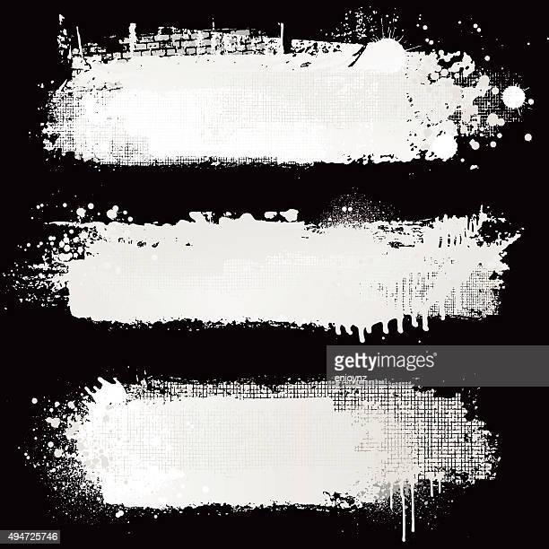 ilustrações, clipart, desenhos animados e ícones de pintura planos de fundo branco texturizado - fundo preto