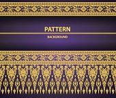 Thai Art Background pattern vector