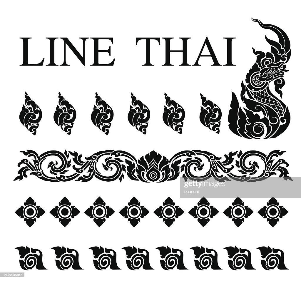 thai art pattern vector