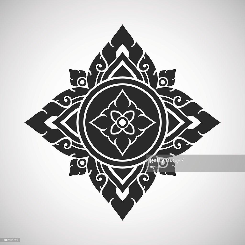Thai arts ancient decorative element, vector