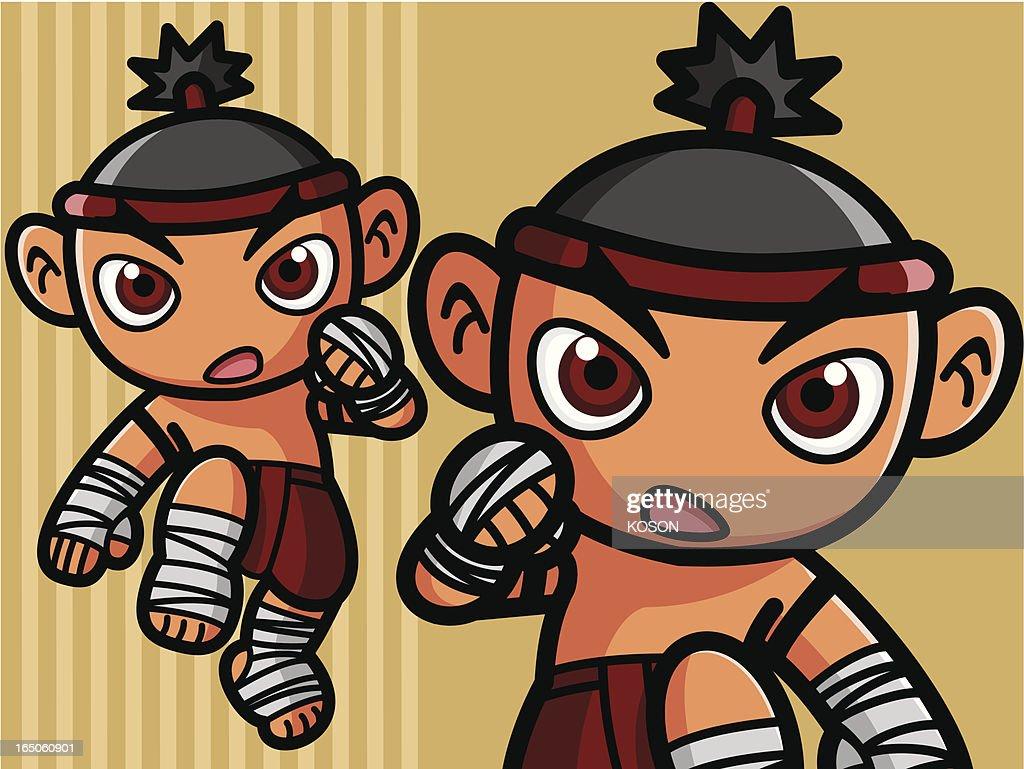 Thai Boxing : stock illustration