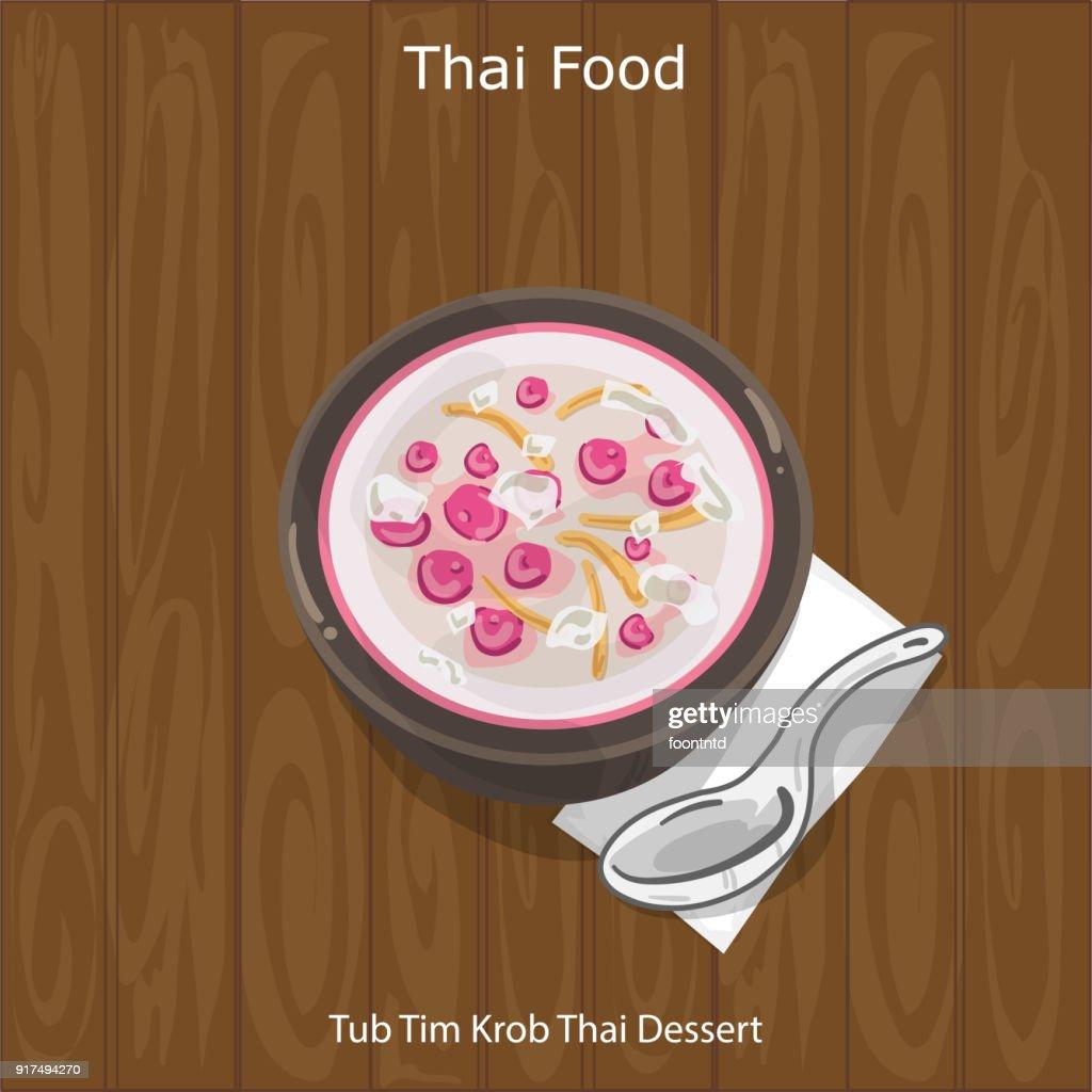 Thai Dessert Tub Tim Krob