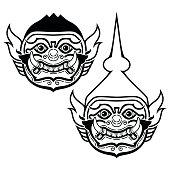Thai Khon mask - Phra Ram