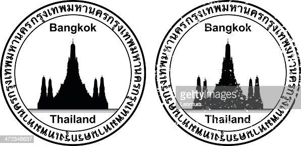 Thai Passport Stamp Vector Art Getty Images