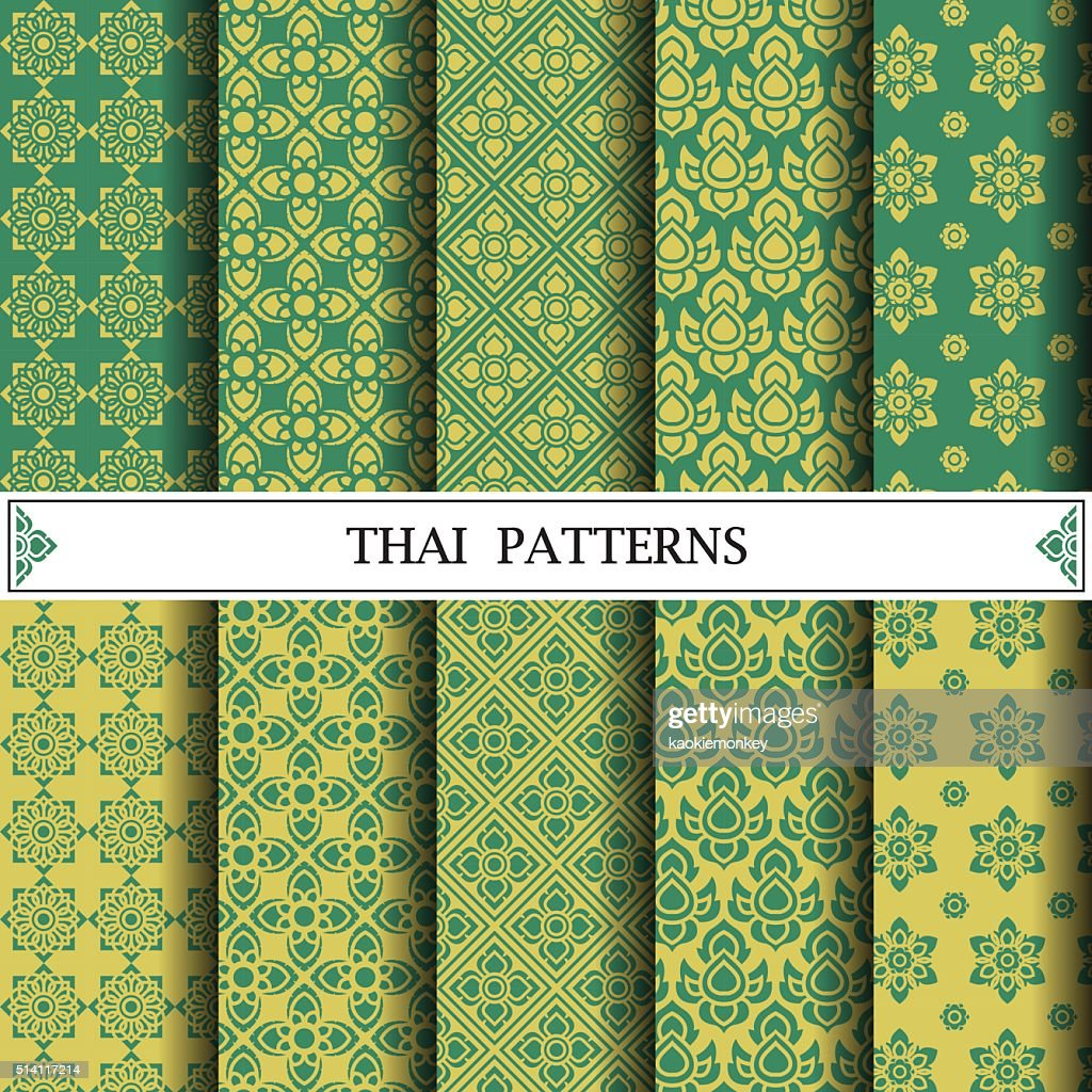 Thai pattern, pattern fills, web page background, surface textur