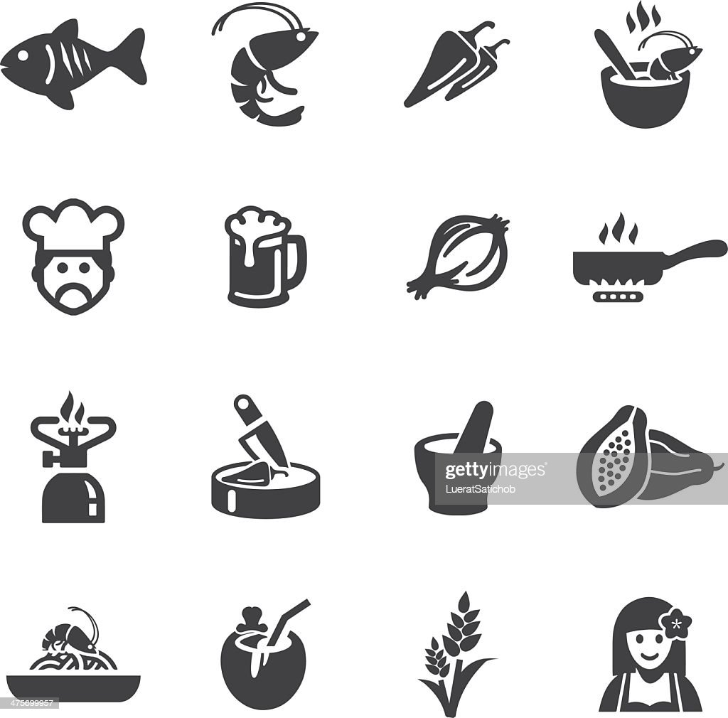Thai restaurants Silhouette Icons