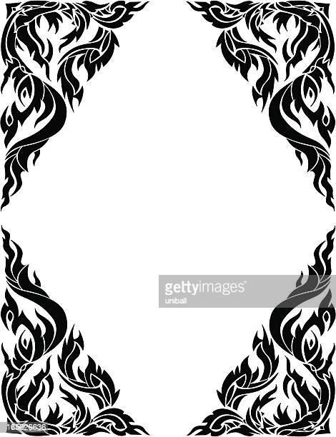 thai-Stil frame Grenze