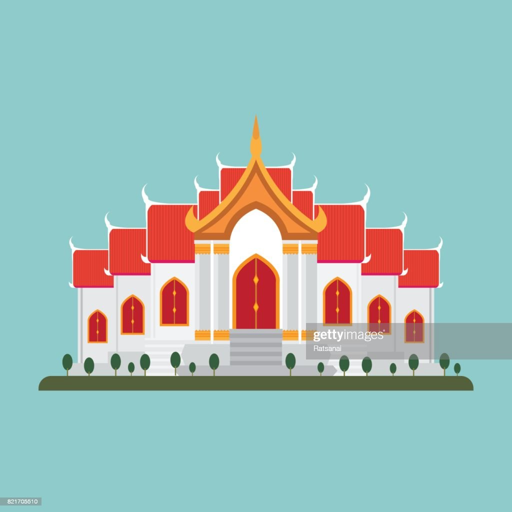 thai temple : stock illustration