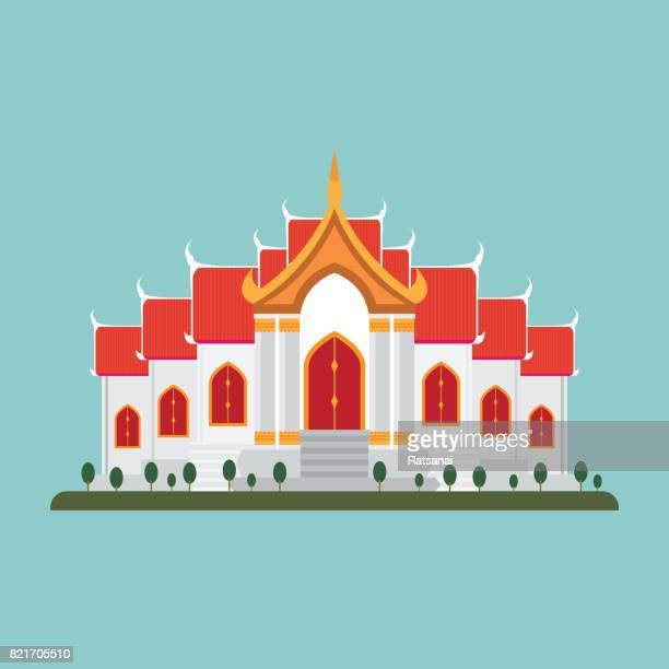 thai temple - thailand stock illustrations