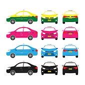 Thai Transportation,Thai Taxi, Thai Service, Car service, Vector