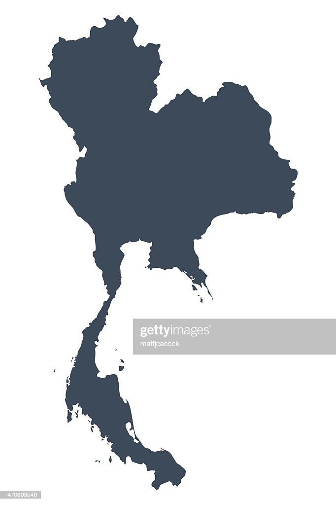 Thailand country map : stock illustration