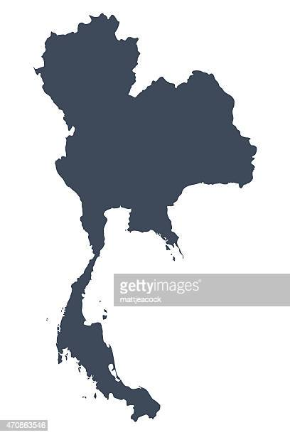 thailand country map - thailand stock illustrations