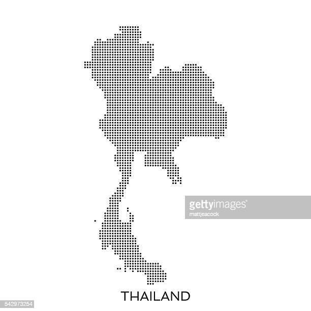 Thailand dot halftone pattern map