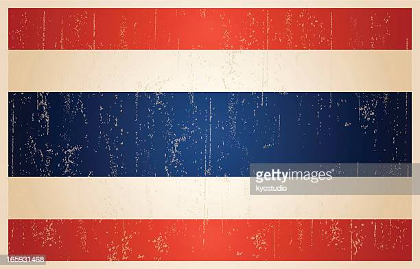 Thailand flag in grunge and vintage style.