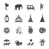 Thailand icons. Vector illustration.