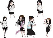 Thailand little girl uniforms University