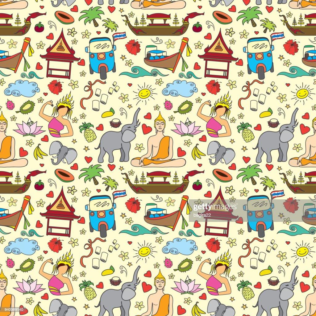 Thailand seamless pattern