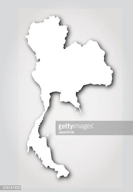 Silhouette blanche de Thaïlande