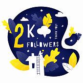 Thank you 2K followers post