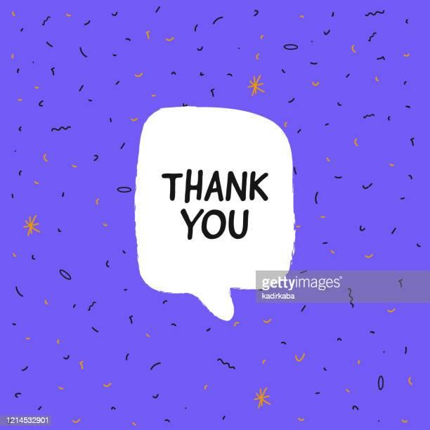 ありがとうバナー、吹き出し、ポスターやステッカーのコンセプト、ベクトルイラスト - thank you点のイラスト素材/クリップアート素材/マンガ素材/アイコン素材