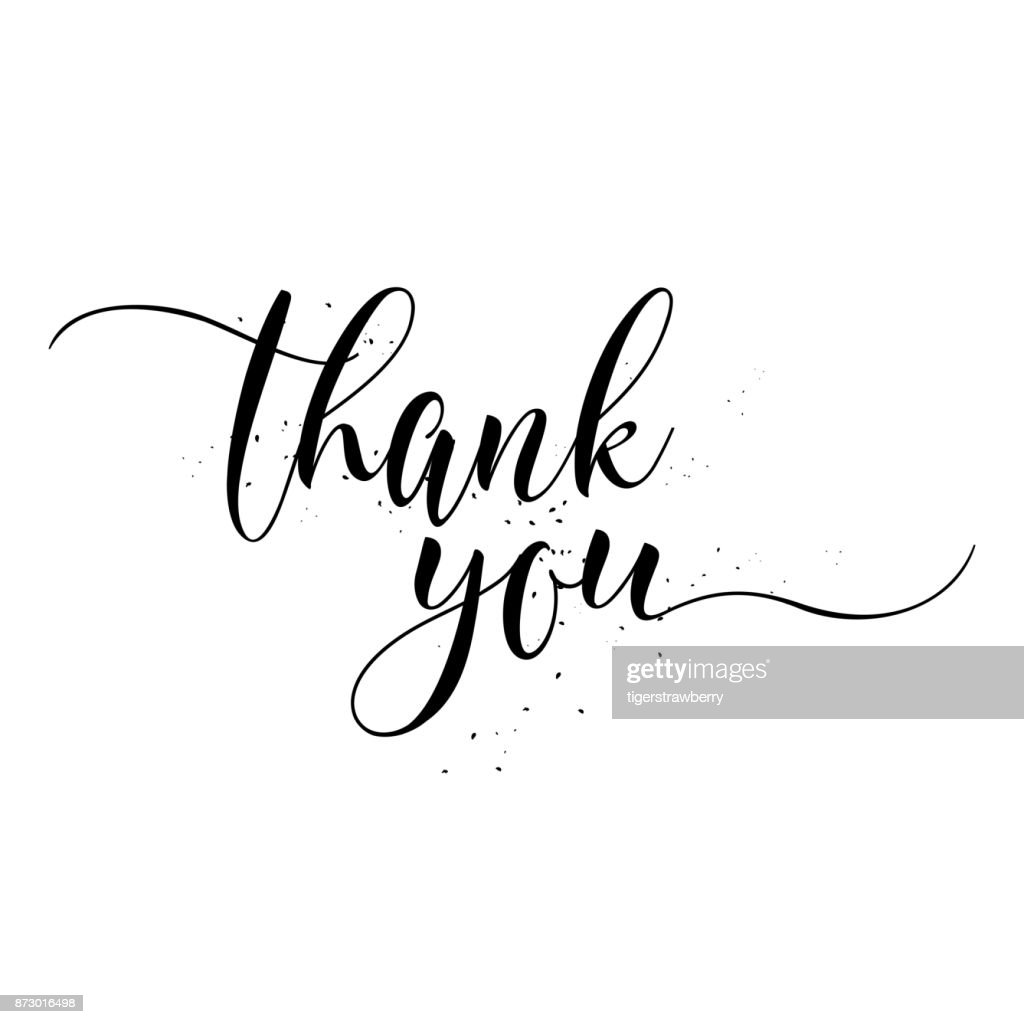 Thank You calligraphy sign. Brush painted letters. Gratitude vector illustration.