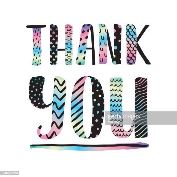 ilustraciones, imágenes clip art, dibujos animados e iconos de stock de gracias caligrafía - gracias