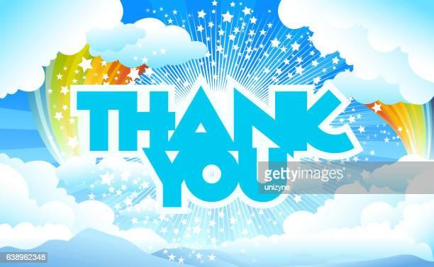 ilustraciones, imágenes clip art, dibujos animados e iconos de stock de tarjeta de agradecimiento para - gracias