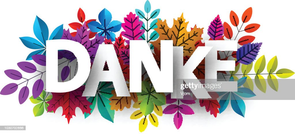 Thank you card with beautiful colorful leaves.