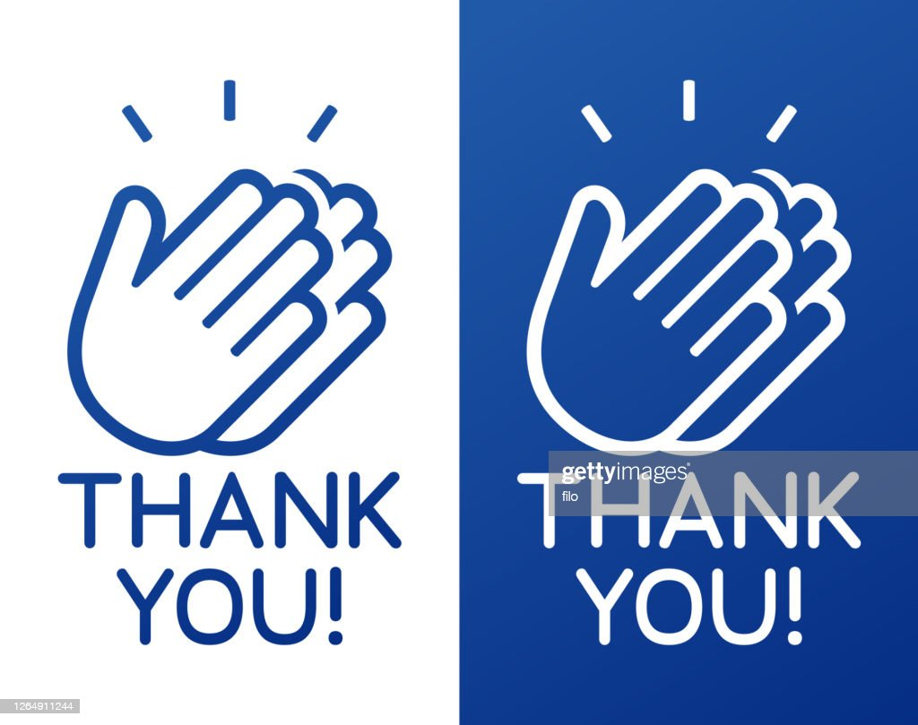Thank You Clapping Hands Celebration Appreciation : Stock Illustration