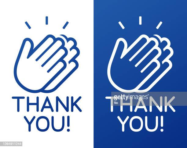 thank you clapping hands celebration appreciation - gratitude stock illustrations