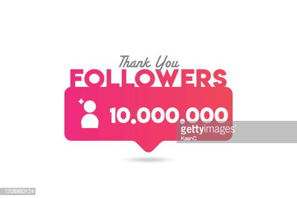 thank you followers design. stock illustration - following stock illustrations