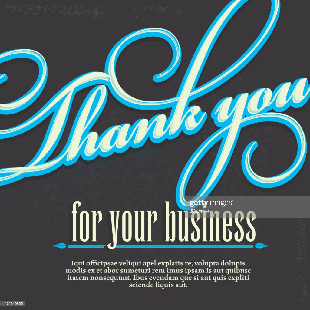 Thank you for your business design card template vector art getty thank you for your business design card template vector art flashek Choice Image