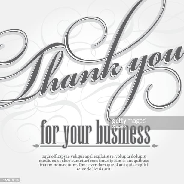 Thank you for your business design card template