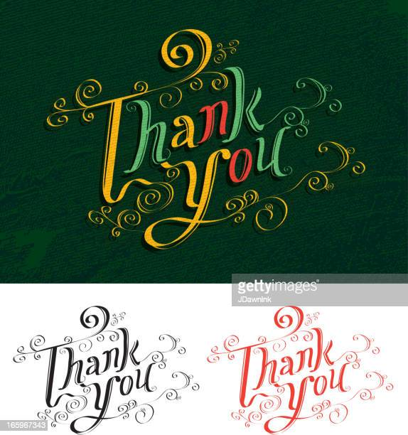Thank You greeting calligraphy set