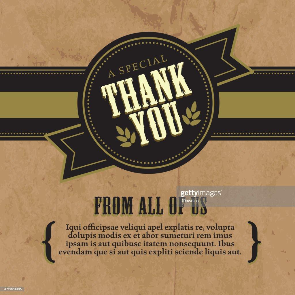 Gracias a su diseño de tarjeta de felicitación diseño rústico de embarcaciones de recreo fondo de papel : Ilustración de stock