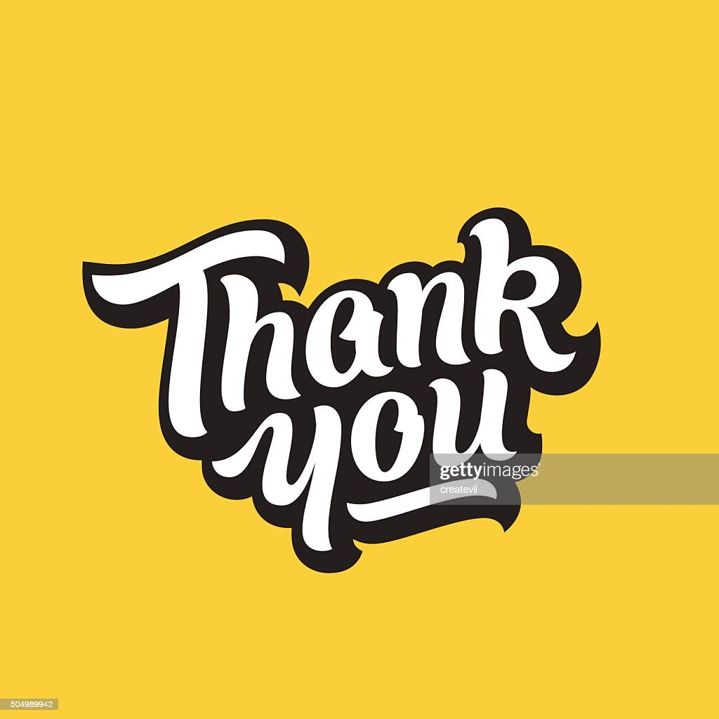 Thank You Hand Drawn Premium Quality Vector Lettering