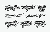 thank you hand written lettering bundle 1