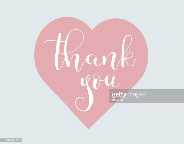 thank you hand written lettering - thanks quotes stock illustrations