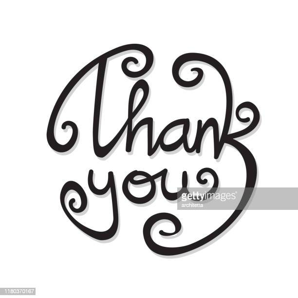 thank you handwriting in black - thanks quotes stock illustrations
