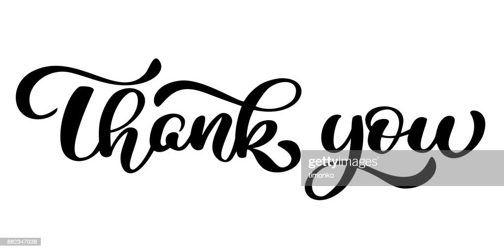 Thank You handwritten inscription. Hand drawn lettering. Thank You calligraphy. Thank you card. Vector illustration