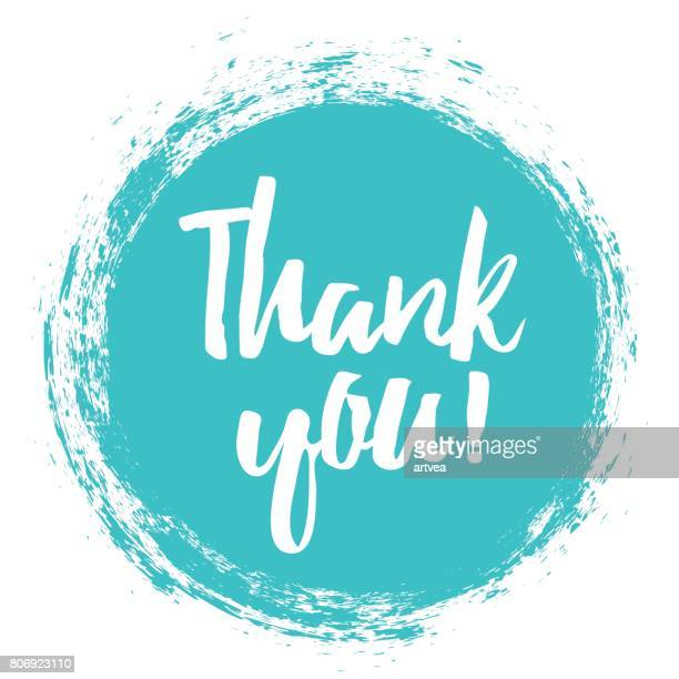 thank you handwritten inscription. - greeting card stock illustrations, clip art, cartoons, & icons