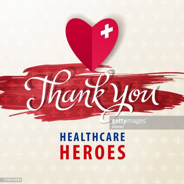 thank you healthcare workers - heroes stock illustrations