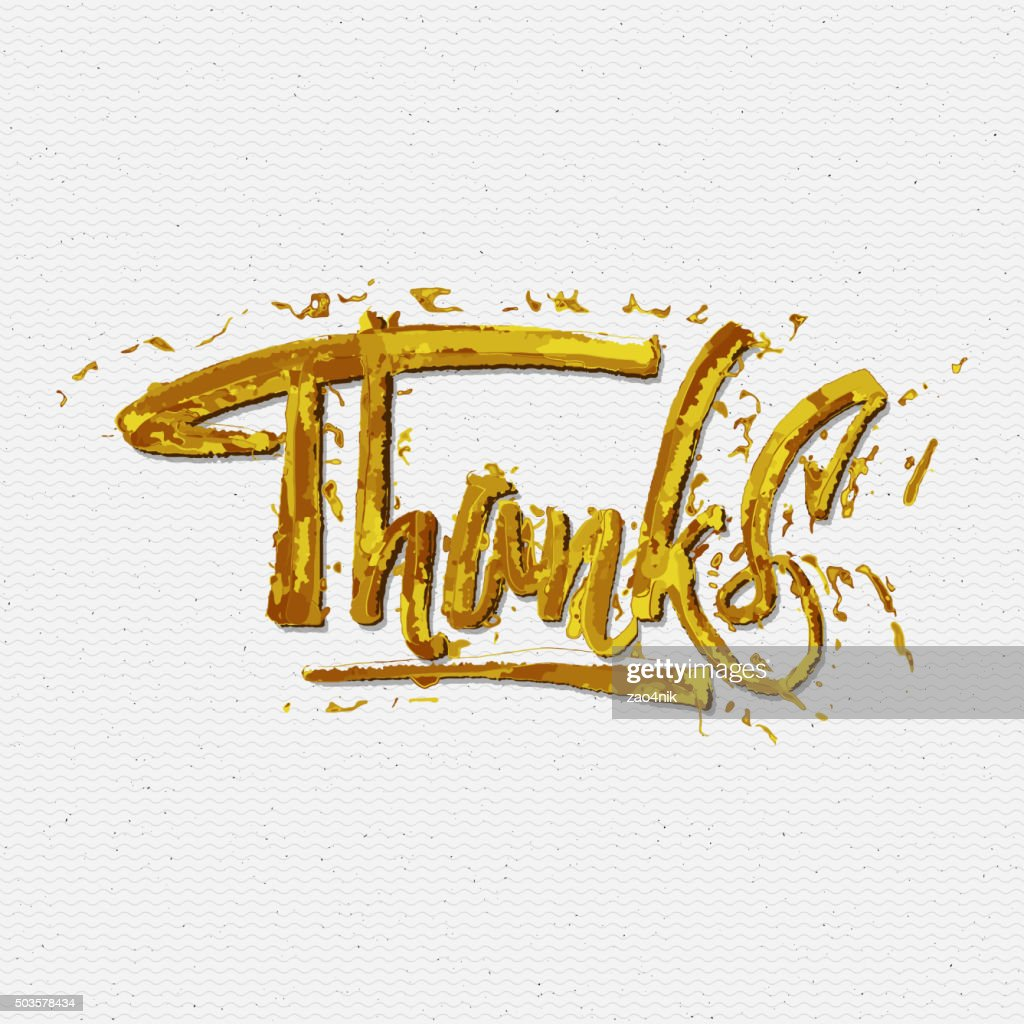 Thank you, merci beaucoup, danke- typographic calligraphic lettering