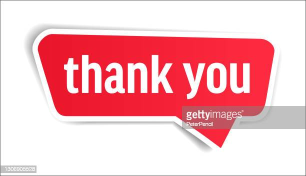 thank you - speech bubble, banner, paper, label template. vector stock illustration - thanks quotes stock illustrations