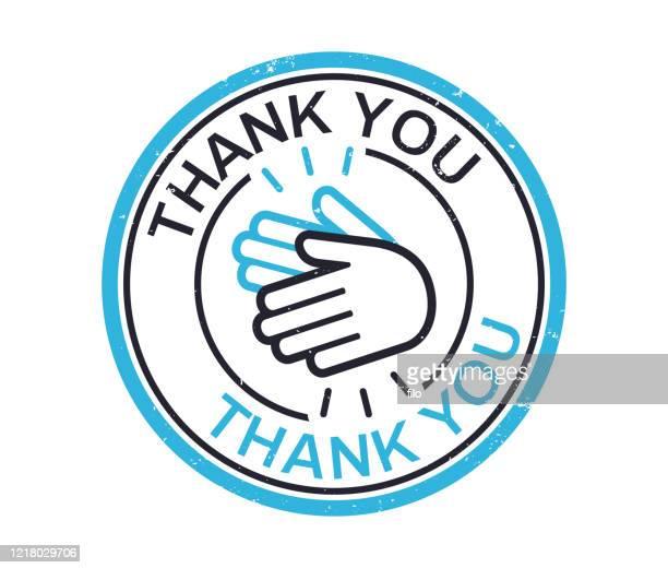 ありがとうスタンプバッジ - thank you点のイラスト素材/クリップアート素材/マンガ素材/アイコン素材