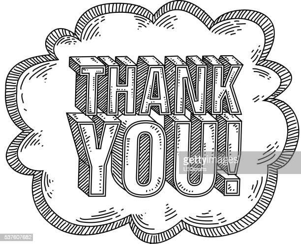 ilustraciones, imágenes clip art, dibujos animados e iconos de stock de dibujo de texto gracias - gracias